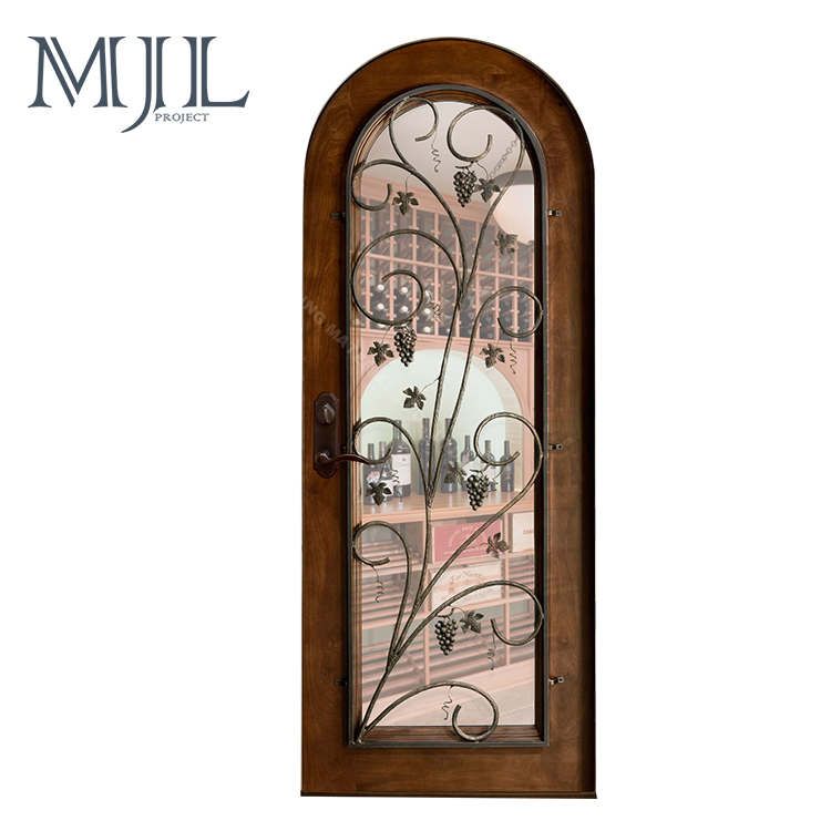Simple European style customized solid wooden wine cellar doors