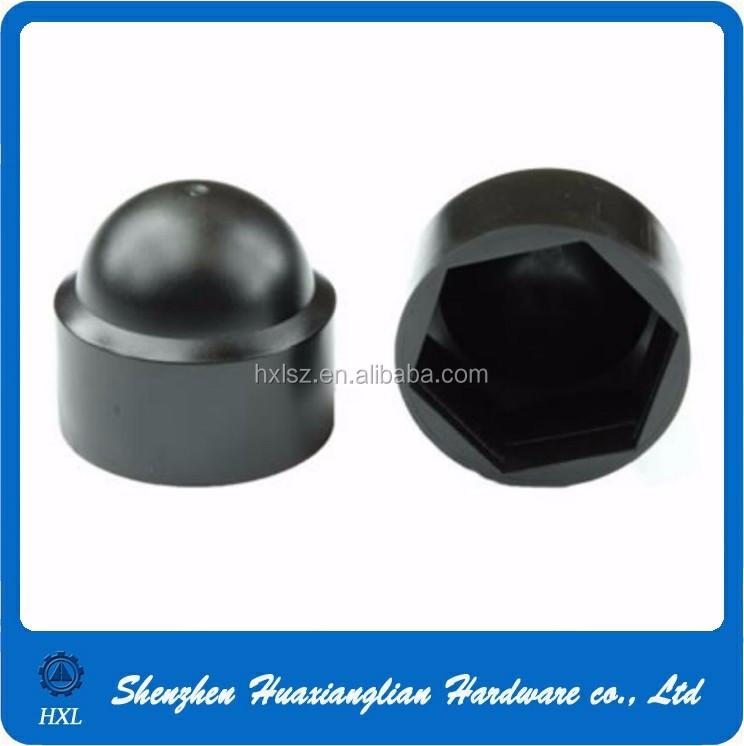 Black M16-10 caps Bolt Nut Domed Cover Caps Plastic