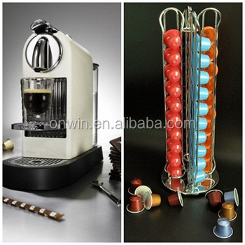 Metal Italy espresso coffee capsule/pod holder with wholesale price in 40pcs