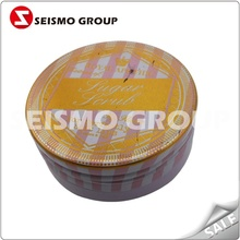 round tin box container metal tin can for cookie