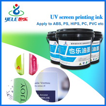 Fast drying led UV ink for PVC