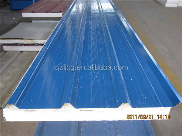 PE painted steel foam wall panel / ceiling panel with high galvanized zinc coating