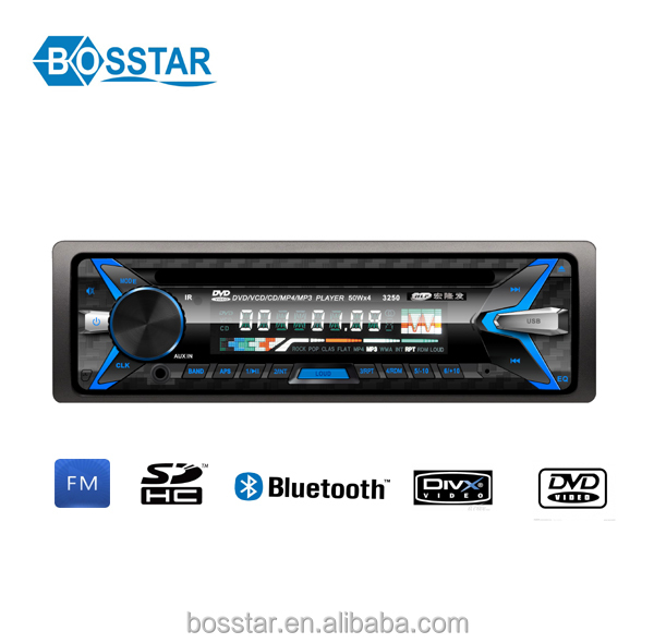 single din universal detachable panel car audio dvd player with bluetooth gps fm radio for fiat and for all cars
