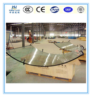 Curved tempered laminated glass