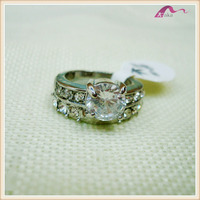 Promotional Women Engagement Crystal Ring Jewelry
