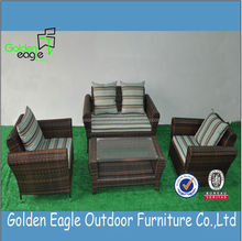 indoor outdoor garden rattan wicker sofa set mixed color rattan sofa set