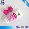 Soft plastic packaging red tube for body lotion and hair conditioner