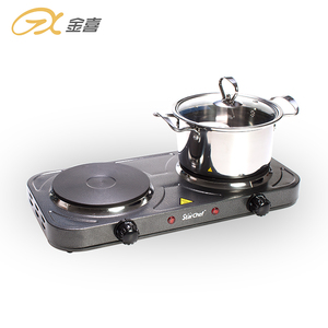 JX-6243A 2000W 220V Cheap Price Manufacture Stainless Steel Double Burner Hot Plate Stove Electric Stove