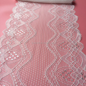 High quality African lace two tone bra stretch lace trim for sale,decorative lace trim