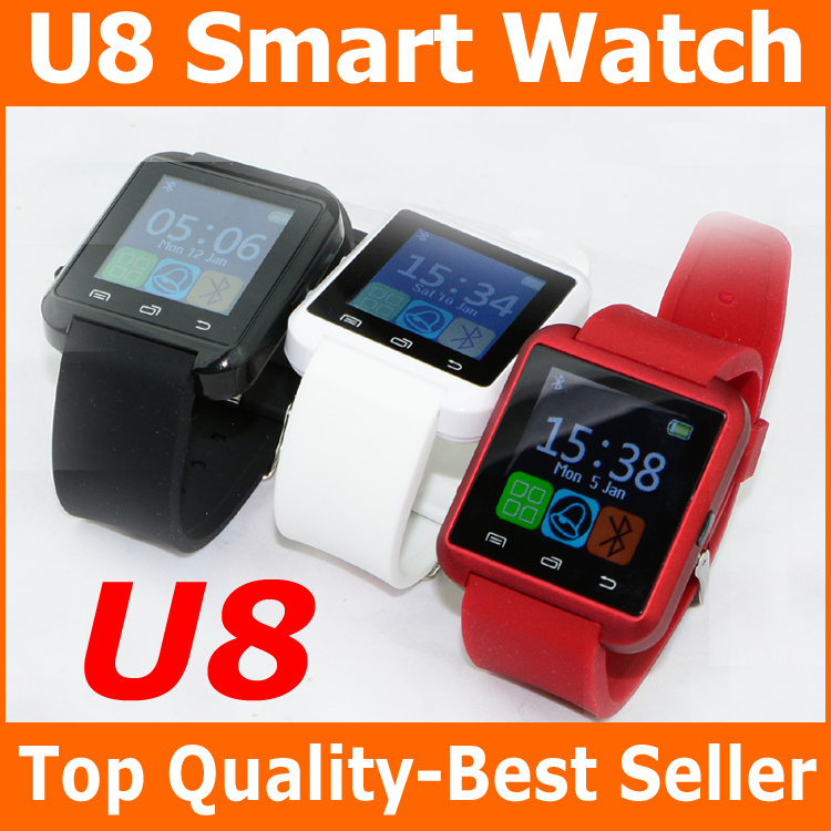 CE Mark hot selling cell phone accessory New year's gift U8 with Altimeter intelligent wristwatch