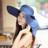 W72049G 2016 summer beach fashion wide brim straw hats women straw hats for women
