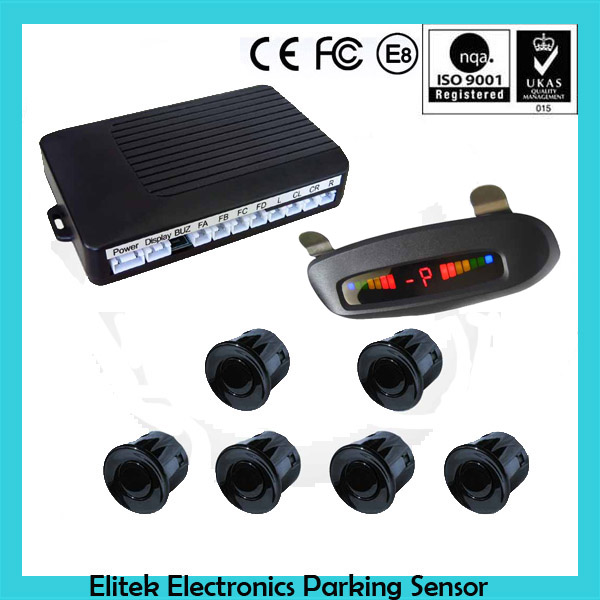 Blind Spot Sensor Assist System Car Front & Rear 6 Parking Sensor System