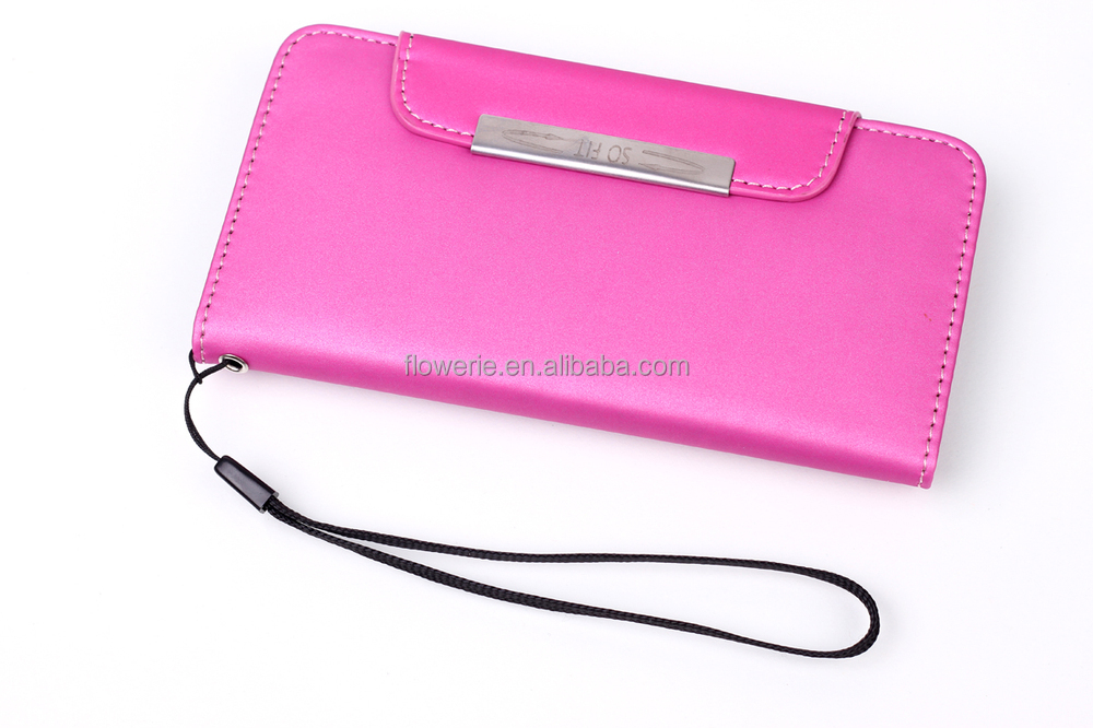 FL2511 Mate wallet leather classic colors for iphone 6 leather case