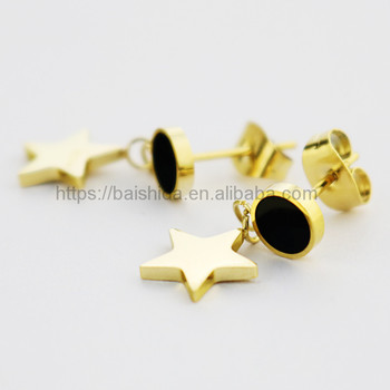 gold star charm 2017 fashion pendant jewelry anniversary engagement gift party wedding