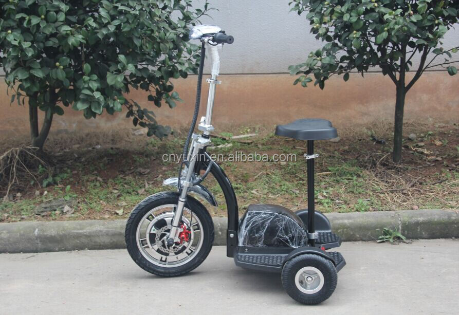 500W 48V 20Ah 3 wheel zappy stand up electric scooter with CE