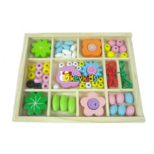 2017 wholesale DIY Kids wooden game string beads toy,Colorful DIY wooden Beads toy, Educational wooden beads toy W11E018