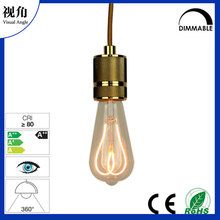 Flexible HEART shaped filament LED light bulb Dimmable