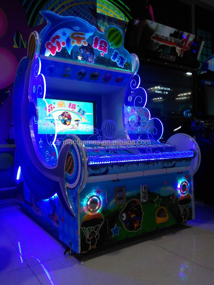 Newest Amusement kids coin operated redemption game Happy Thrower game machine
