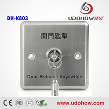 2015 High Sale Access Waterproof Control Door Release Keyswitch Exit Button
