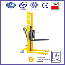 Walk type 1 ton manual forklift manual pallet stacker machine price