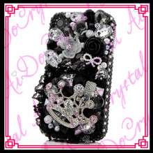 Aidocrystal Luxury High Quality Hard case Whoelsale Black Color Rhinestone Jewel Phone Case