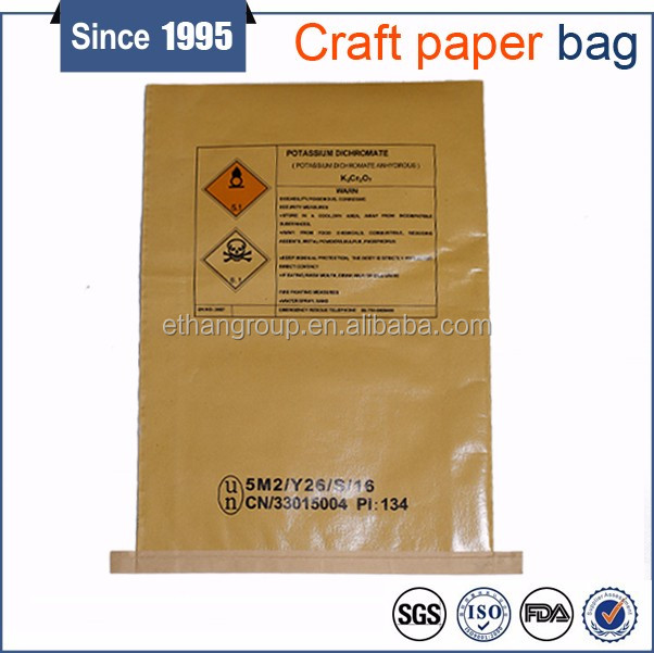 kraft paper laminated polypropylene bag for packing flour powder chemical products