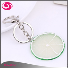 Cheap Trending Novelty Advertising Fruit Serious Resin Simulated Plastic Food Fruit Keychain