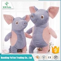 wholesale custom small unstuffed plush pig animals