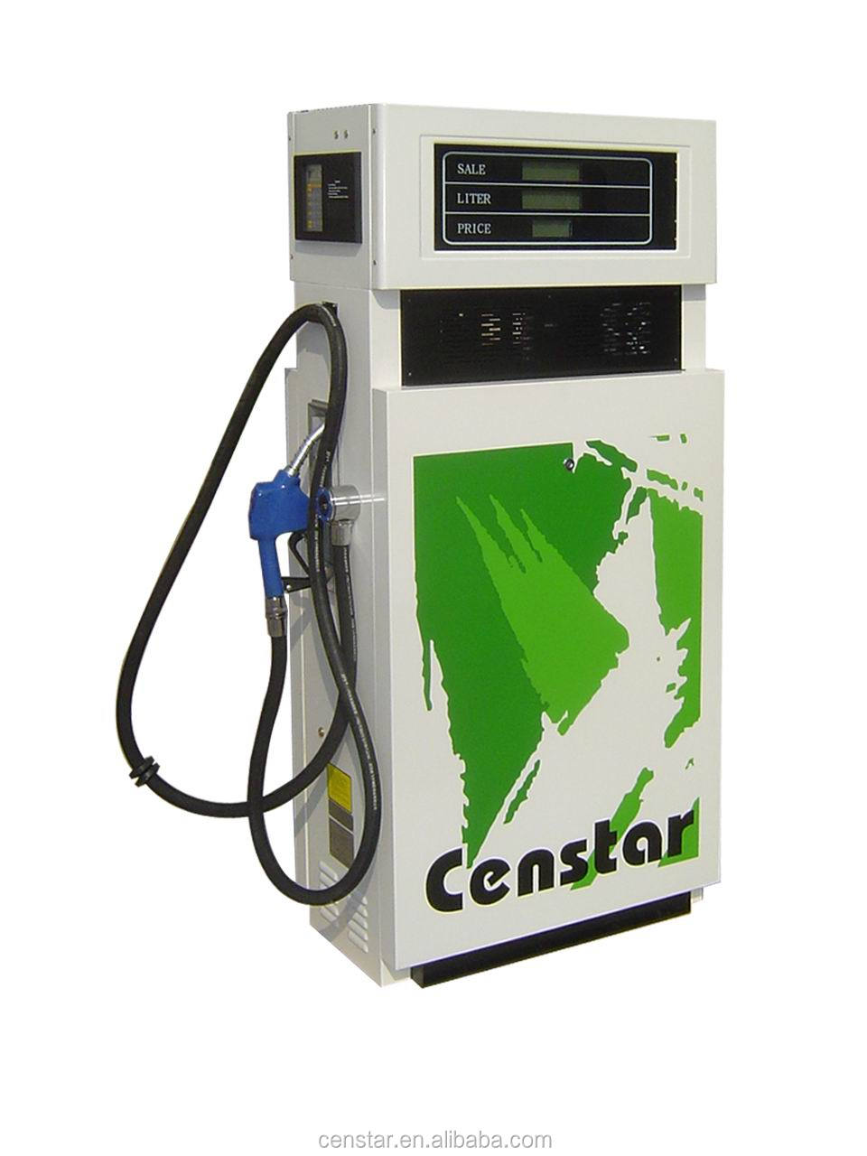 CS10 Atex certified one nozzle one pump gasoline dispenser, steel structure beautiful looking measured pump dispenser