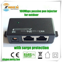 Hot selling 1port Gigabit passive poe injector Application use for AP, IP camera, IP phone
