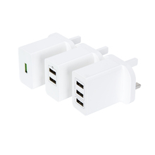 1 2 3 Port 3.1A Euro US UK Indian USB Wall Charger