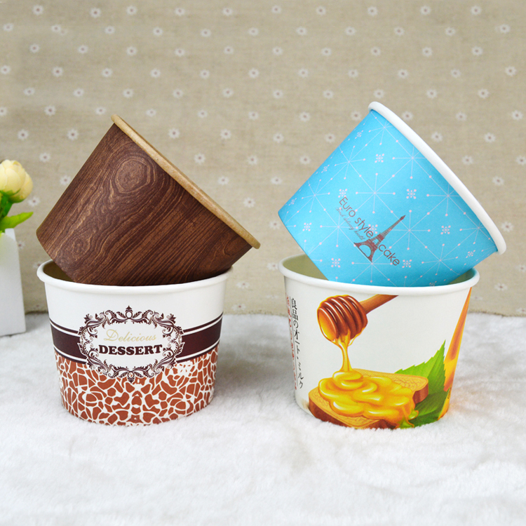 Bulk size paper dessert bowl with logo
