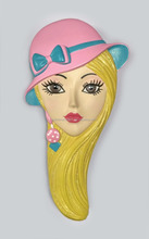 Hairdressing resin decorated hair comb for door gift