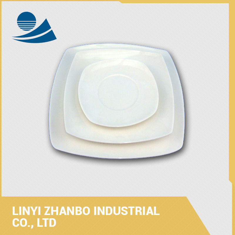 Cheap light weight porcelain side plate dishes