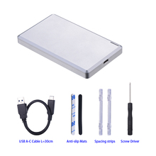 2.5 inch SATA to USB3.1 type-c external hdd enclosure with 10Gbps transfer speed