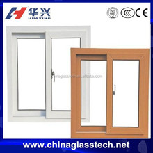 CE Standard PVC Frame Tempered Glass Windows For Sale
