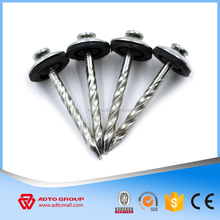 Shank Roofing Nails High HV Degree Umbrella Head with Seal Rubber Washer Function