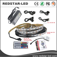 Led Strip 20m 5050 Rgb Waterproof Tape 5m 10m 15m 25m 30m Ip65 + Rf Remote Controller Power Adapter Amplifier Kit Free Shipping
