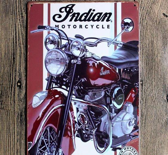 <strong>20</strong>*30cm motorcycle metal tin sign for wall decoration