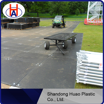 HDPE virgin uhmwpe/hdpe road mats with good quality / plastic heavy duty access mat