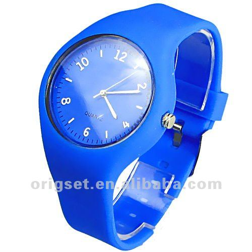 Fashion sports silicone watch for lady