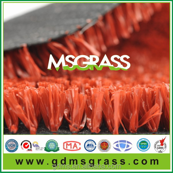 Hotsale Green and Red Artificial plastic grass cover for tennis court