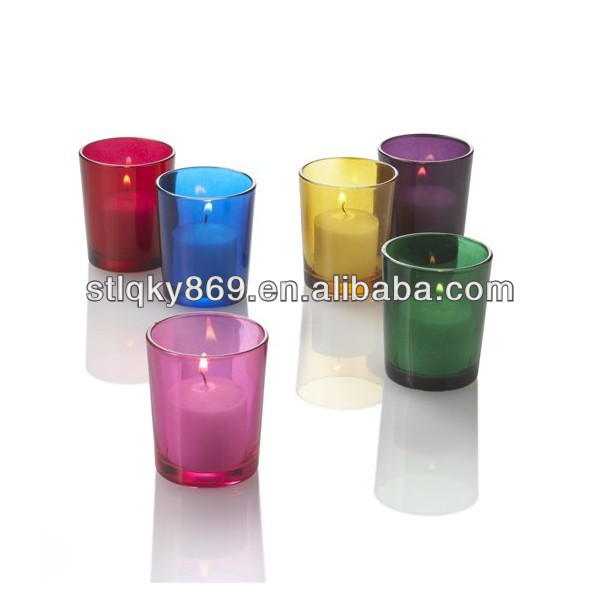 lyT302 Tealight Candle holder Wholesale Round Glass Candle Holder Bulk Glass Votive Candle Holders