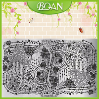 BQAN Beautiful Flower DIY Nail Art Tool Custom Nail Art Stamping Plates