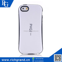 Low price PC and silicone mobile phone bumper case for iphone5s