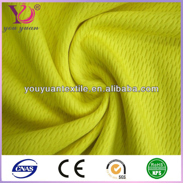 China knit dyed polo T sport shirt mesh fabric for printing