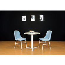 Small metal frame dining chair modern