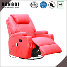 360 Swivel Rocker Leather Comfortable Massage Heated Recliner Sofa