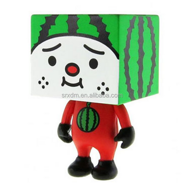 3'' cute TOFU Square Head Red Devilrobot vinyl action figure/custom DIY vinyl action toys/oem plastic action toys China supplier