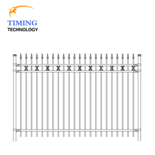 2017 high quality beautiful hot dip galvanized pool fence